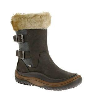 Merrell Decora Chant waterproof boots in wild dove
